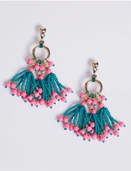 Dancing Beaded Drop Earrings by M&S Collection