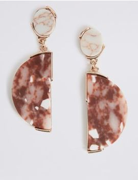 Granite Effect Drop Earrings by M&S Collection