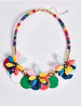 Flower Statement Necklace by M&S Collection