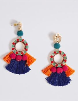 Tassel Drop Earrings by M&S Collection