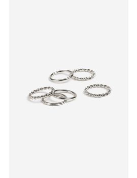 **Textured Midi Ring Pack by Topshop
