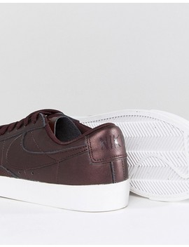 Nike Blazer Low Premium Trainers In Metallic Mahogany by Nike