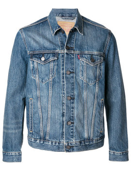 Trucker Denim Jackethome Men Clothing Denim Jacketsshort Sleeve Fitted Shirt Trucker Denim Jacket by Levi's