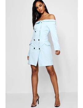 Maisie Double Breasted Off The Shoulder Blazer Dress by Boohoo