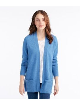 Classic Cashmere Open Cardigan With Pocket by L.L.Bean