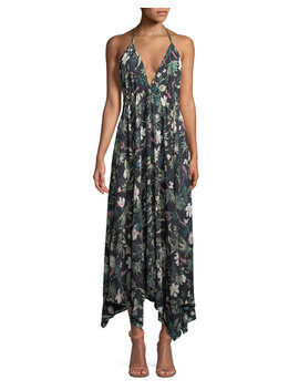 Deep V Floral Print Maxi Coverup Dress by Kate Spade New York