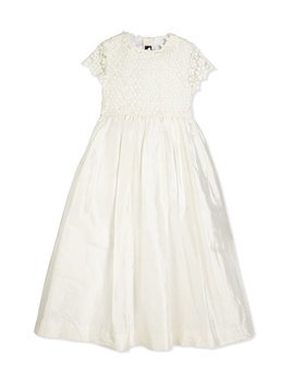 Bethany Long Snowflake Dress, Ivory, Size 2 14 by Oscar De La Renta