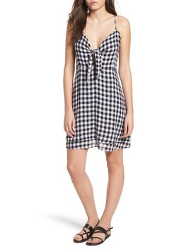 August Gingham Tie Front Dress by Rails