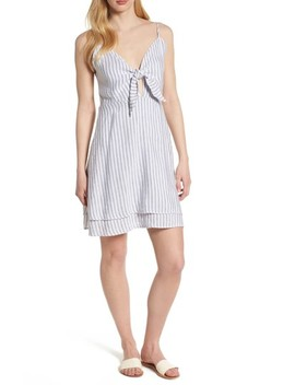August Stripe Tie Front Dress by Rails