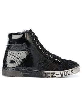Patent Hi Top Sneakers by Saint Laurent