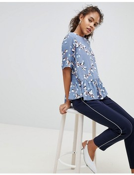 Y.A.S Tall Printed Peplum Top by Y.A.S. Tall