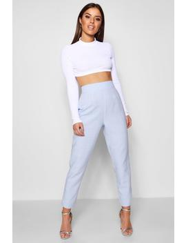 Petite Imogen Pastel Check High Waisted Woven Trousers by Boohoo