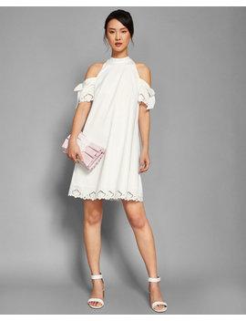 Embroidered Cold Shoulder Dress by Ted Baker