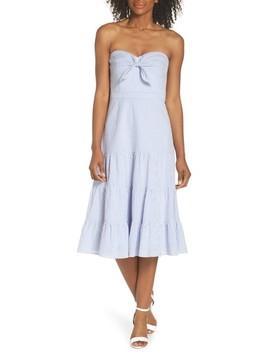 Built In Tie Fit & Flare Dress by Eliza J