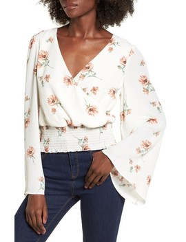 Flare Sleeve Top by June & Hudson