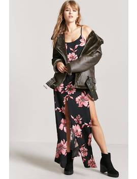 Floral M Slit Maxi Dress by F21 Contemporary