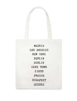 Major Cities Canvas Tote Bag by F21 Contemporary