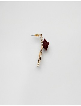 Asos Earrings With Vintage Style Velvet Rose by Asos Collection