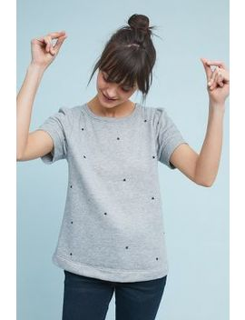Star Embroidered Sweatshirt Tee by T.La