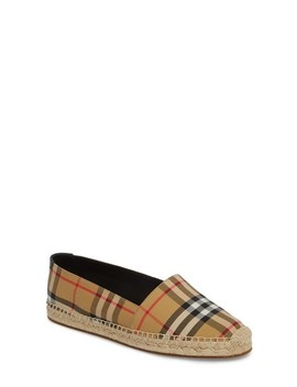 Hodgeson Check Espadrille Flat by Burberry