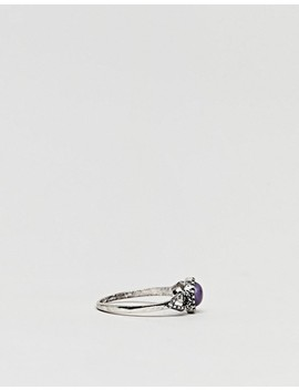 Asos Design Faux Lapis Stone Ring by Asos Design