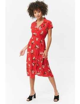 Collared Floral Midi Dress by Forever 21