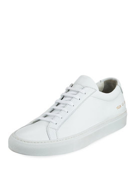 Men's Achilles Leather Low Top Sneaker, White by Neiman Marcus