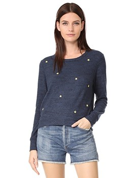 Star Patches Cropped Sweatshirt by Sundry