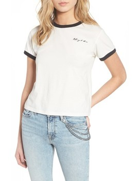 Embroidered Ringer Tee by 7 For All Mankind®