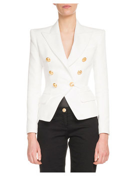 Classic Six Button Cotton Jacket by Neiman Marcus