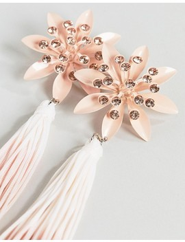 Asos Pretty Flower And Ombre Tassel Earrings by Asos Collection