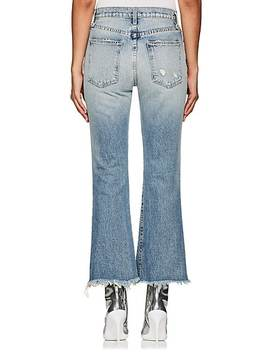 The High Waist Kick Distressed Flared Jeans by Current/Elliott