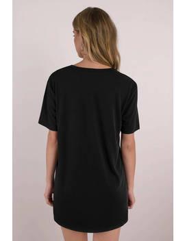 Easy Does It Black Shift Dress by Tobi