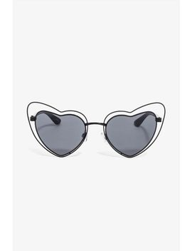 Caged Heart Cateye Sunnies by A'gaci