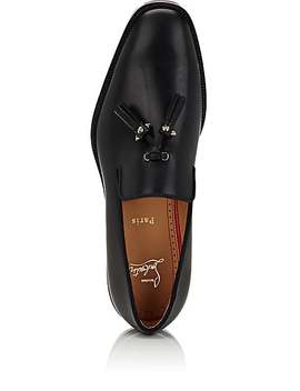 Luglion Leather Venetian Loafers by Christian Louboutin