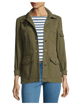 Camp Ponte Utility Jacket, Olive by Veronica Beard