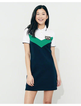 Varsity Patch Polo Dress by Hollister