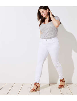Loft Plus Modern Skinny Jeans In White by Loft