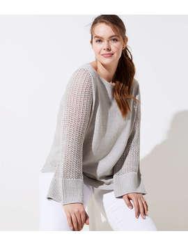 Loft Plus Stitched Sleeve Sweater by Loft