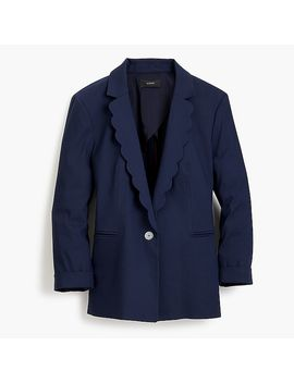 Linen Blazer With Scalloped Collar by J.Crew