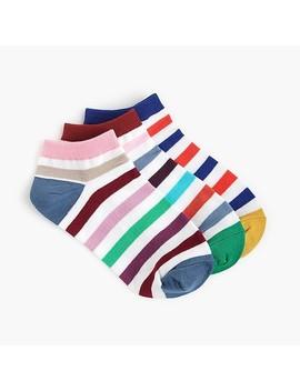 Ankle Socks Three Pack In Multi Stripe by J.Crew