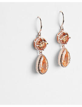 Cubic Zirconia Teardrop Drop Earrings by Express