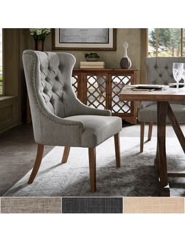 Kimpton Upholstered Button Tufted Wingback Chair By I Nspire Q Artisan by I Nspire Q