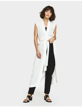 The Yuri Wrap Dress In Salt by Need Supply Co.