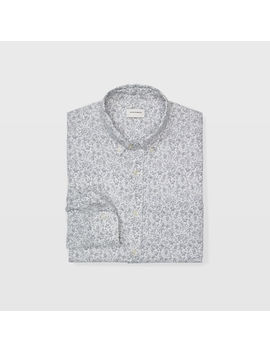 Slim Scribble Linen Shirt by Club Monaco