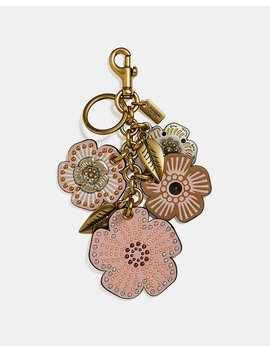Studded Tea Rose Mix Bag Charm by Coach