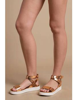 Mia Calla Metallic Sandals by Tobi