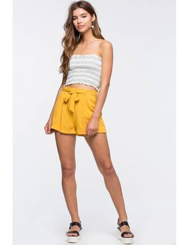 April Tie Front Shorts by A'gaci