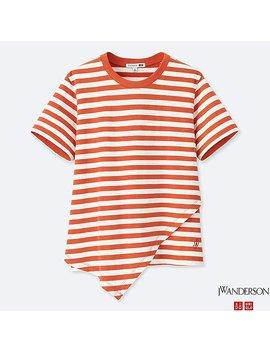 T Shirt RayÉ 100% Coton Manches Courtes J.W.Anderson Femme by Uniqlo