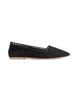 Crocheted Ballet Flats by H&M